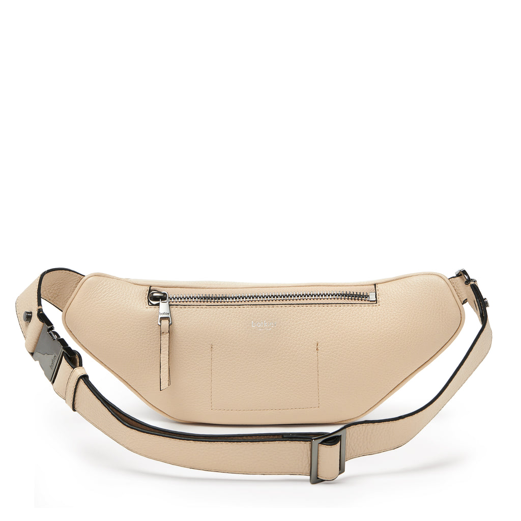 botkier valentina front clasp belt bag in fawn brown