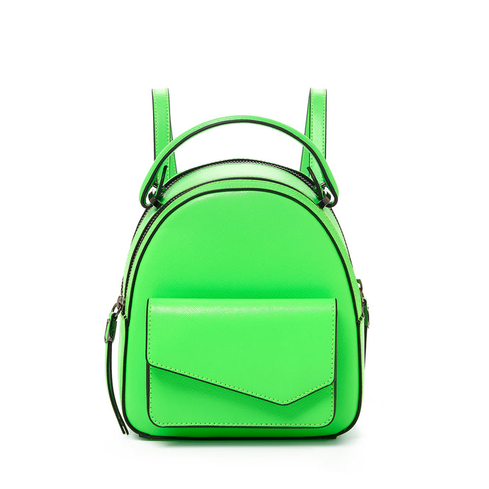 botkier cobble hill mini backpack neon green front
