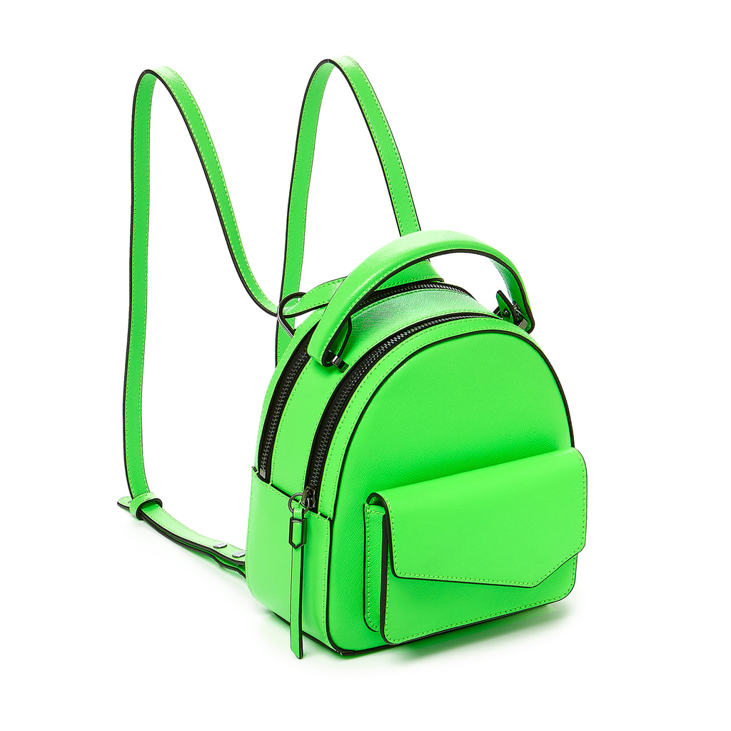 botkier cobble hill mini backpack neon green angle