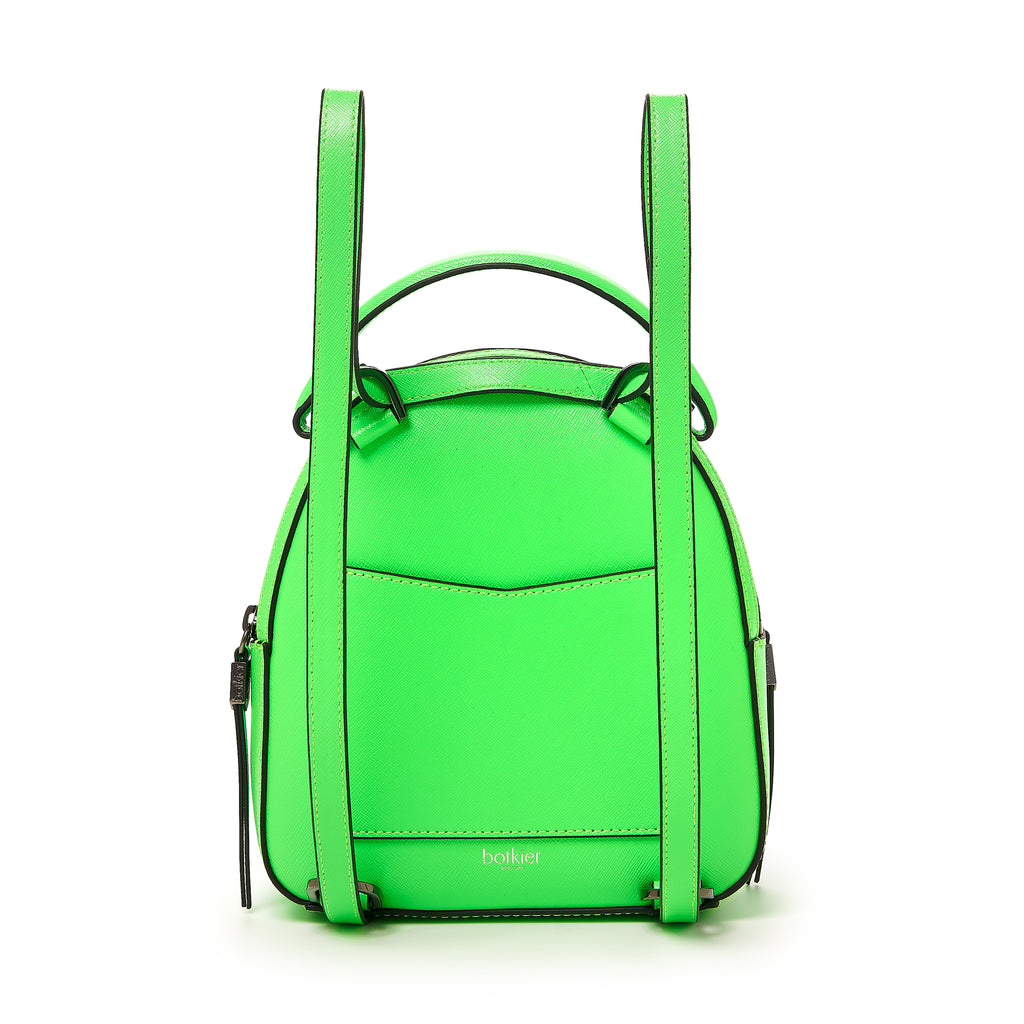 botkier cobble hill mini backpack neon green back