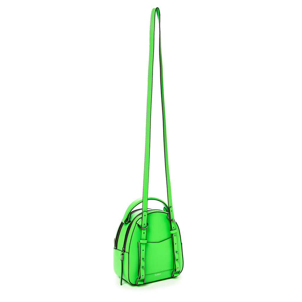 botkier cobble hill mini backpack neon green strap