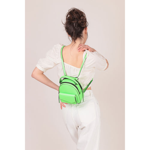 botkier cobble hill mini backpack neon green front Alternate View