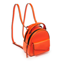 botkier cobble hill mini backpack neon orange angle