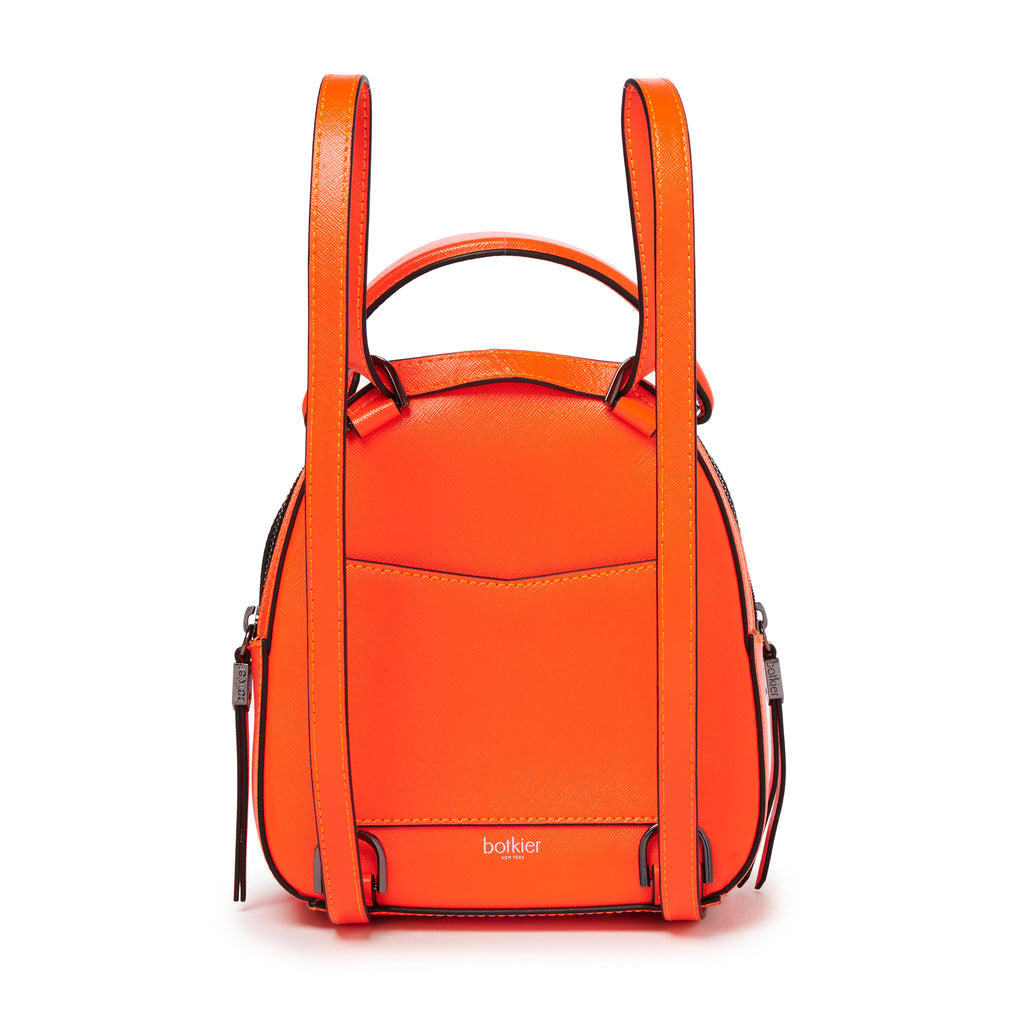 botkier cobble hill mini backpack neon orange back