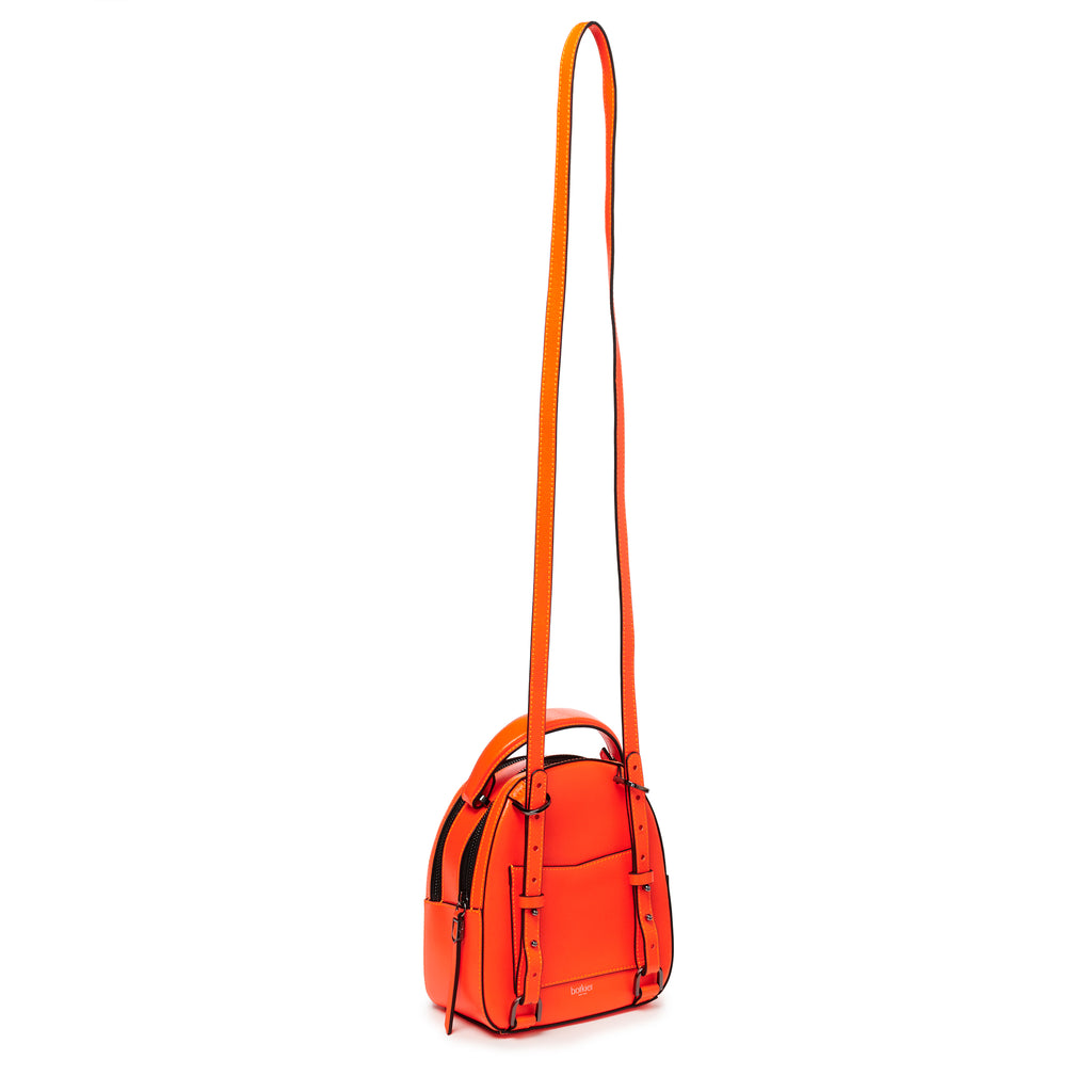 botkier cobble hill mini backpack neon orange strap