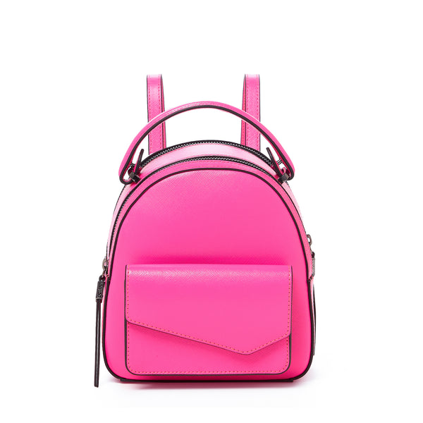 botkier cobble hill mini backpack neon pink front