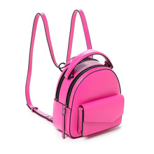 botkier cobble hill mini backpack neon pink angle