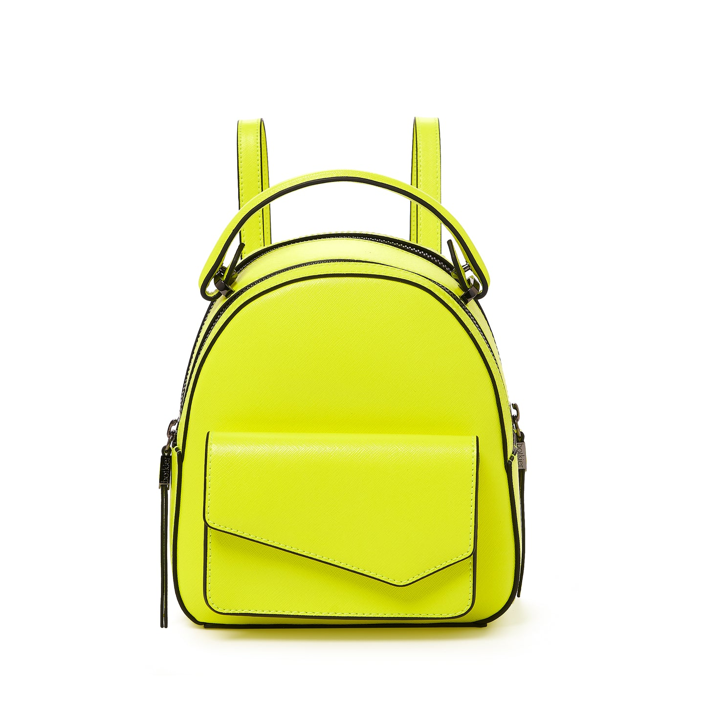 botkier cobble hill mini backpack neon yellow front