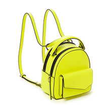 botkier cobble hill mini backpack neon yellow angle