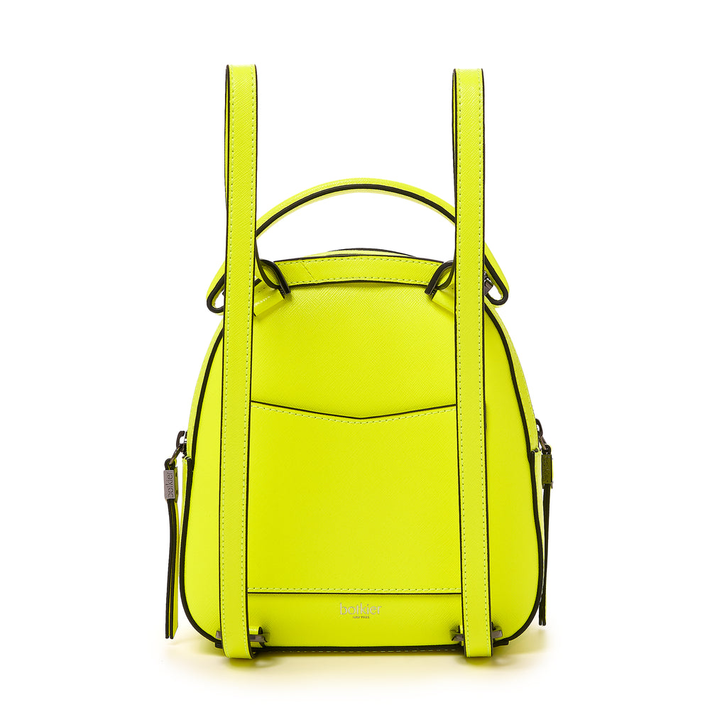botkier cobble hill mini backpack neon yellow back