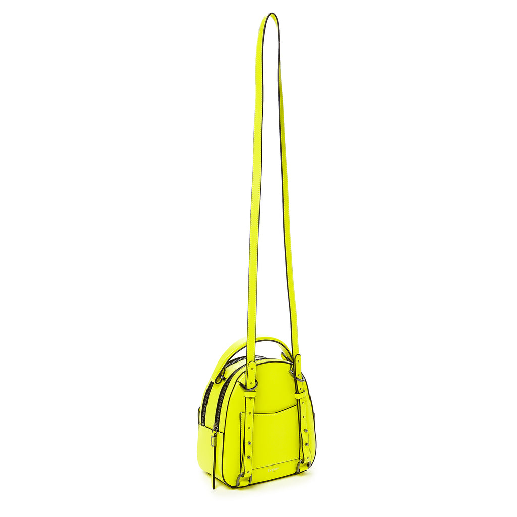 botkier cobble hill mini backpack neon yellow strap