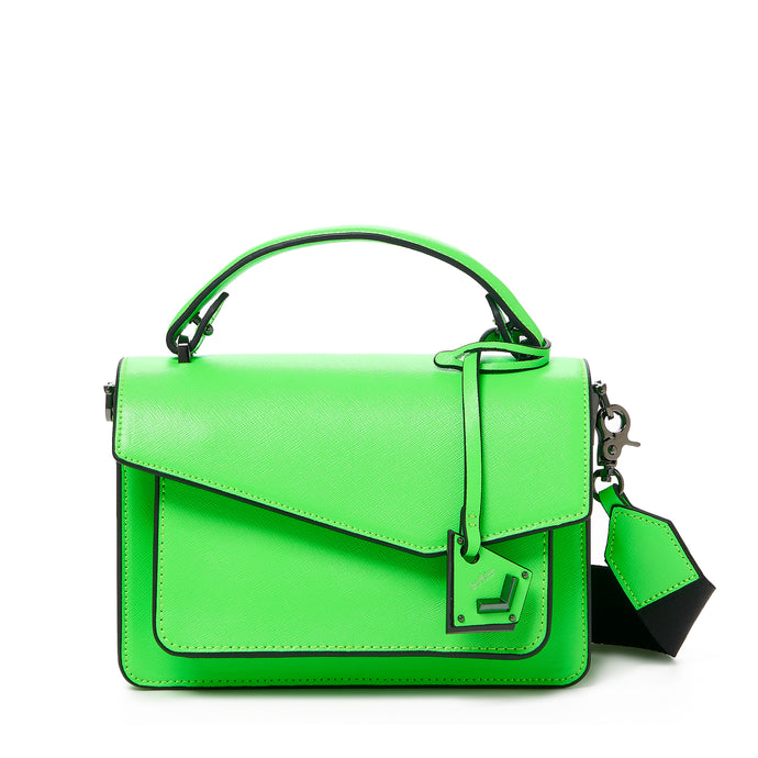 botkier cobble hill crossbody neon green front