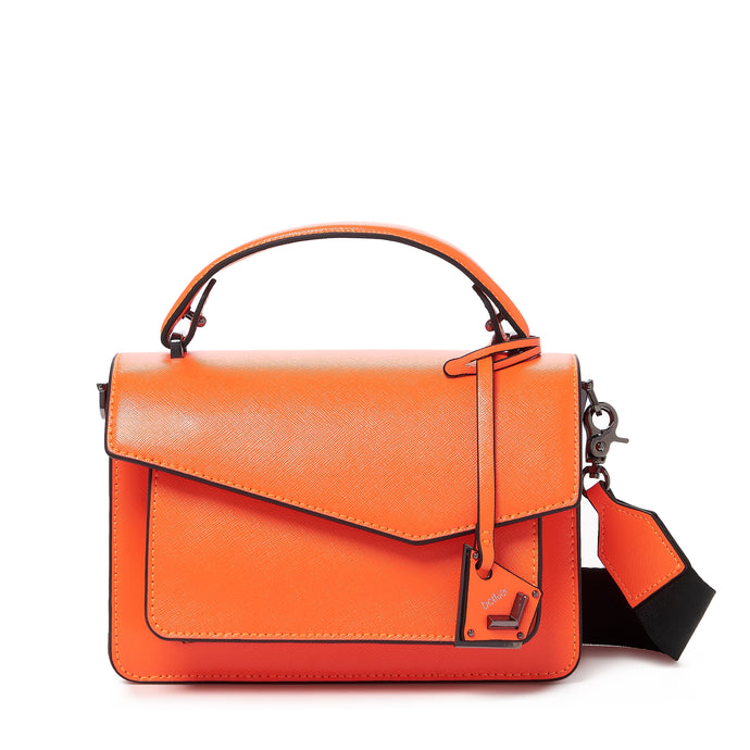 botkier cobble hill crossbody neon orange front