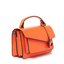 botkier cobble hill crossbody neon orange angle