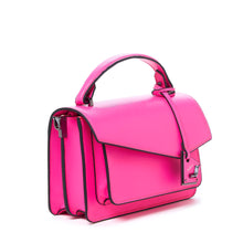 botkier cobble hill crossbody neon pink angle