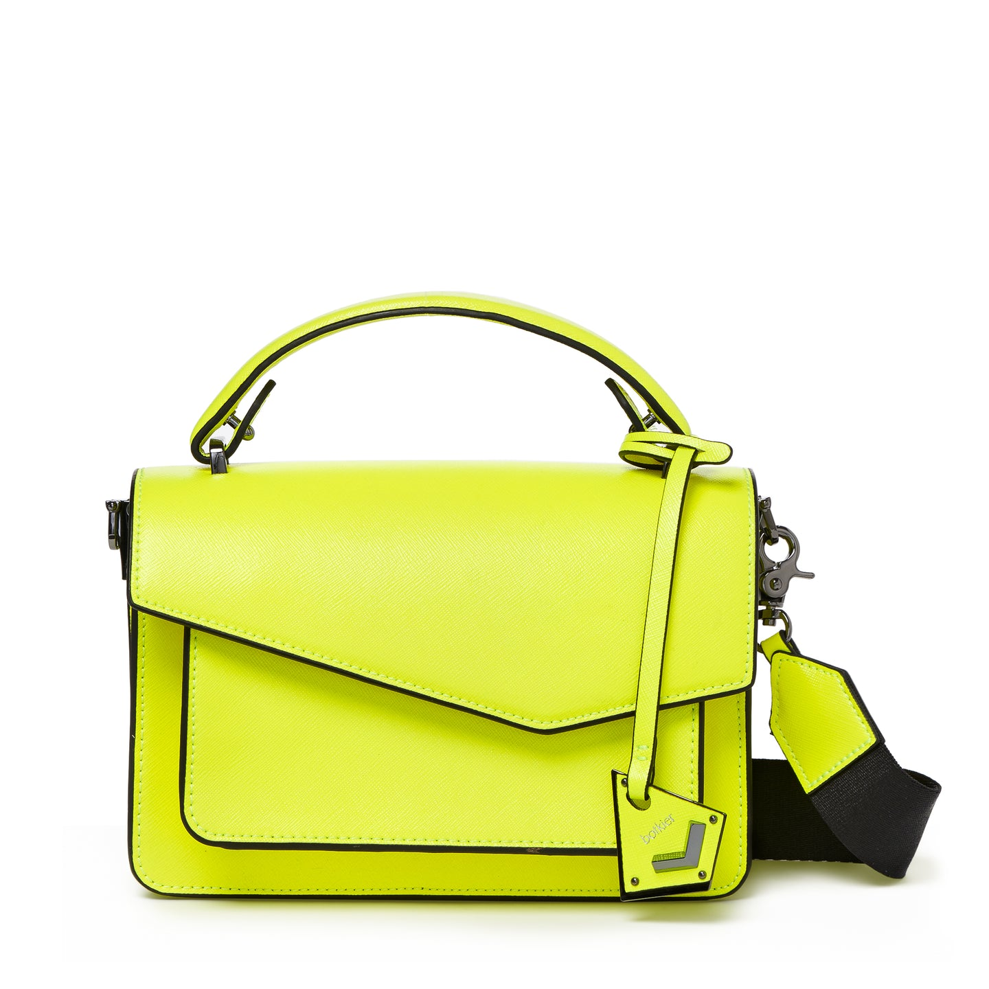 botkier cobble hill crossbody neon yellow front