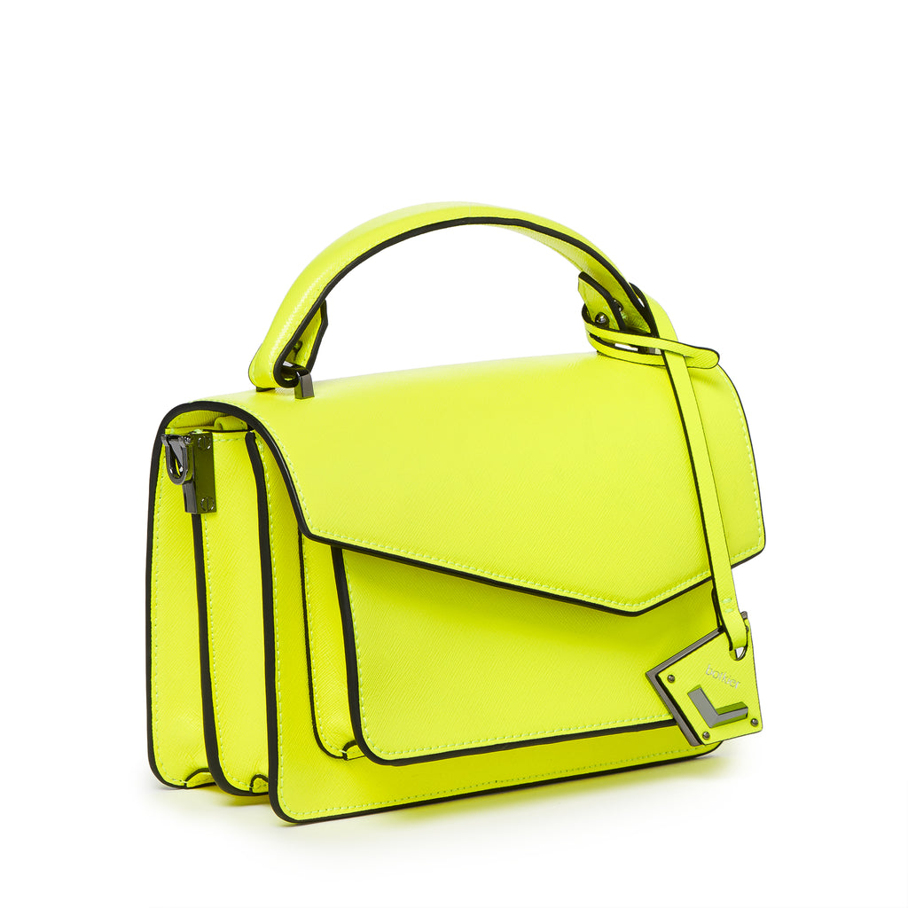 botkier cobble hill crossbody neon yellow angle
