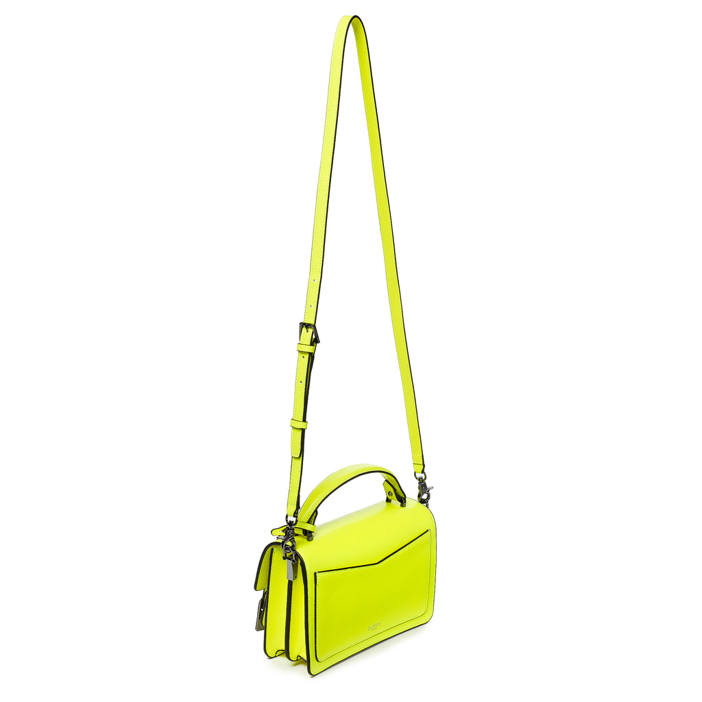 botkier cobble hill crossbody neon yellow leather strap