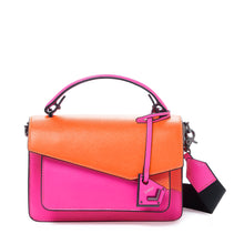 botkier cobble hill crossbody neon pink sliced front