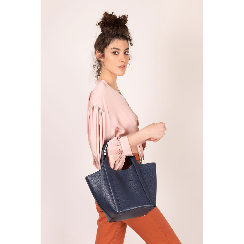botkier nomad mini tote ink on figure strap