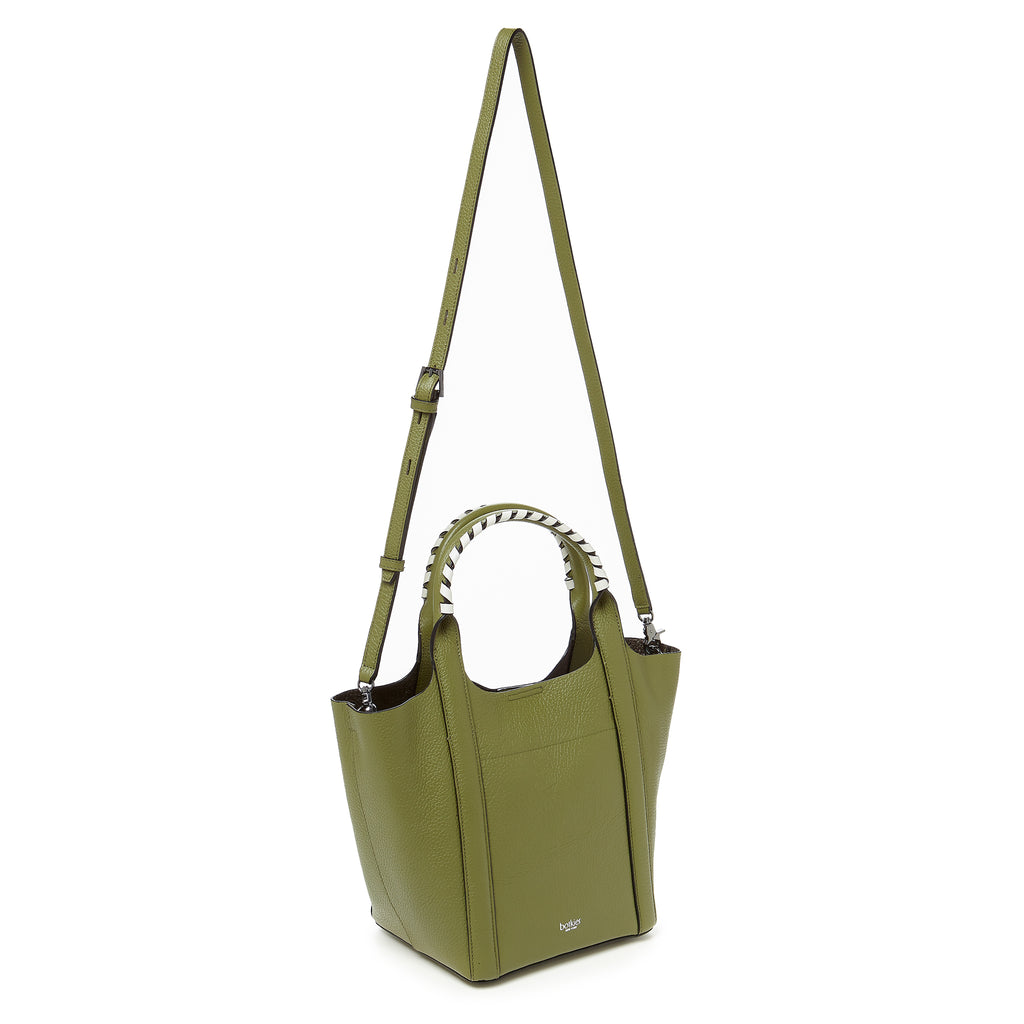 botkier nomad mini tote moss strap