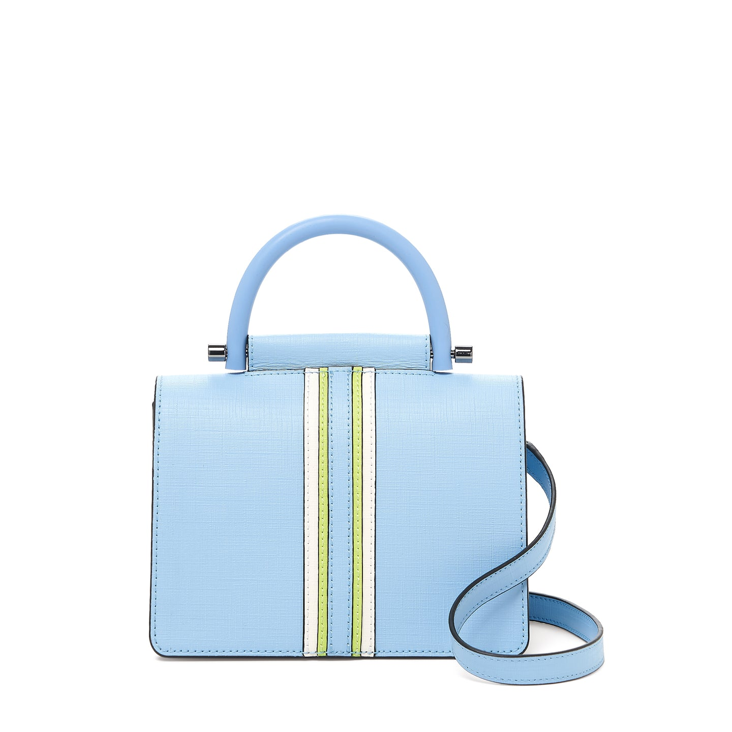 botkier austin top handle crossbody blue cadet front