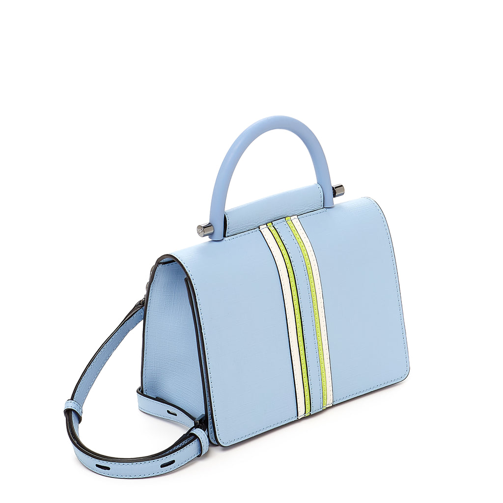botkier austin top handle crossbody blue cadet side