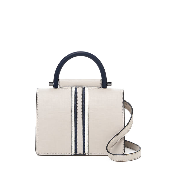 botkier austin top handle crossbody dove front