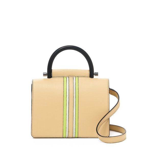 botkier austin top handle crossbody fawn front