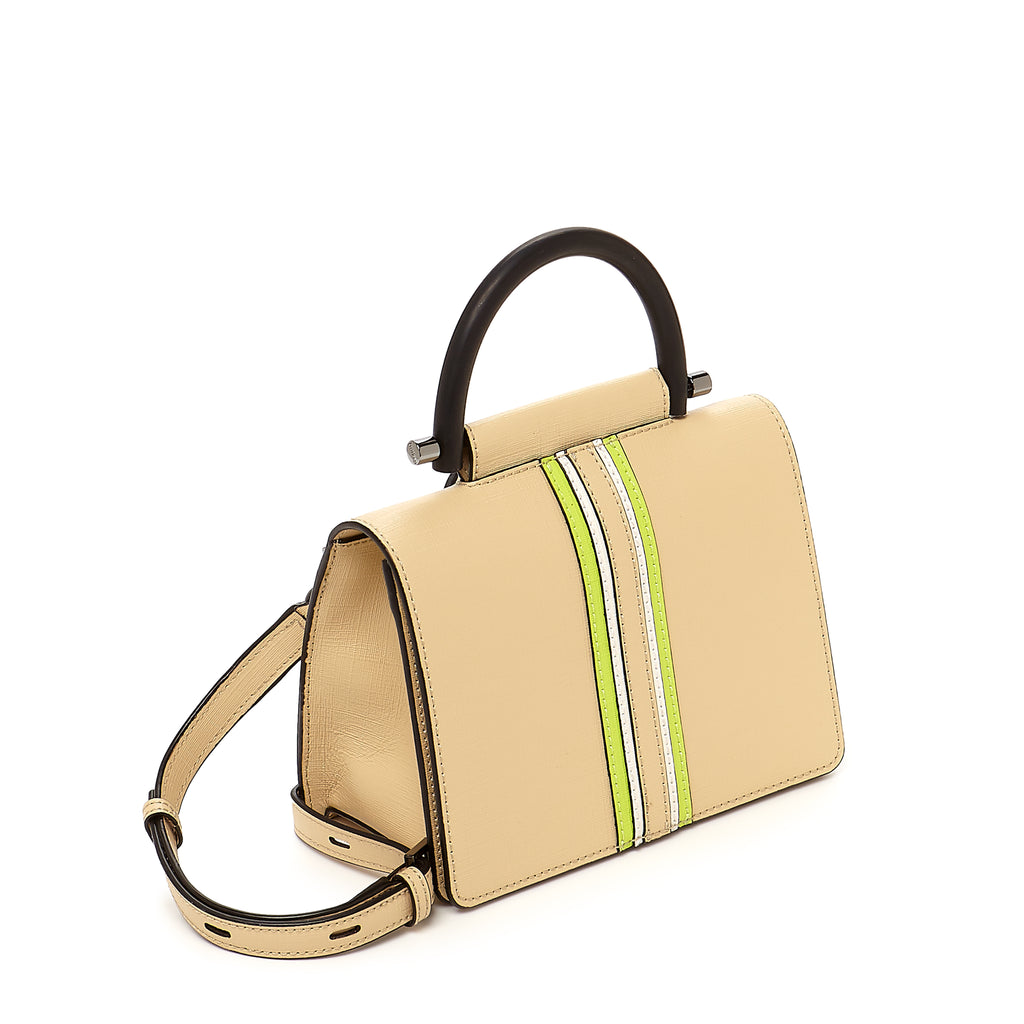 botkier austin top handle crossbody fawn side