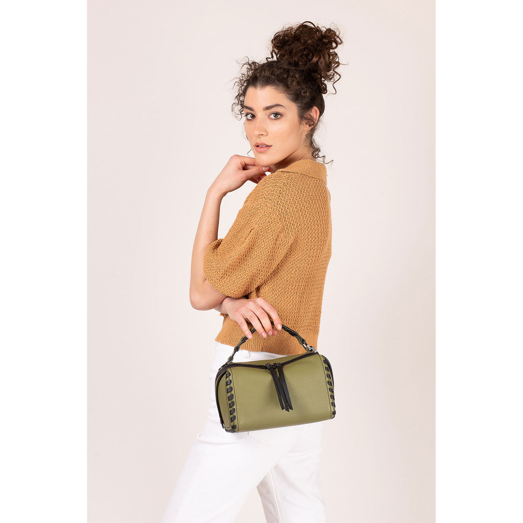 nomad crossbody moss on figure top handle