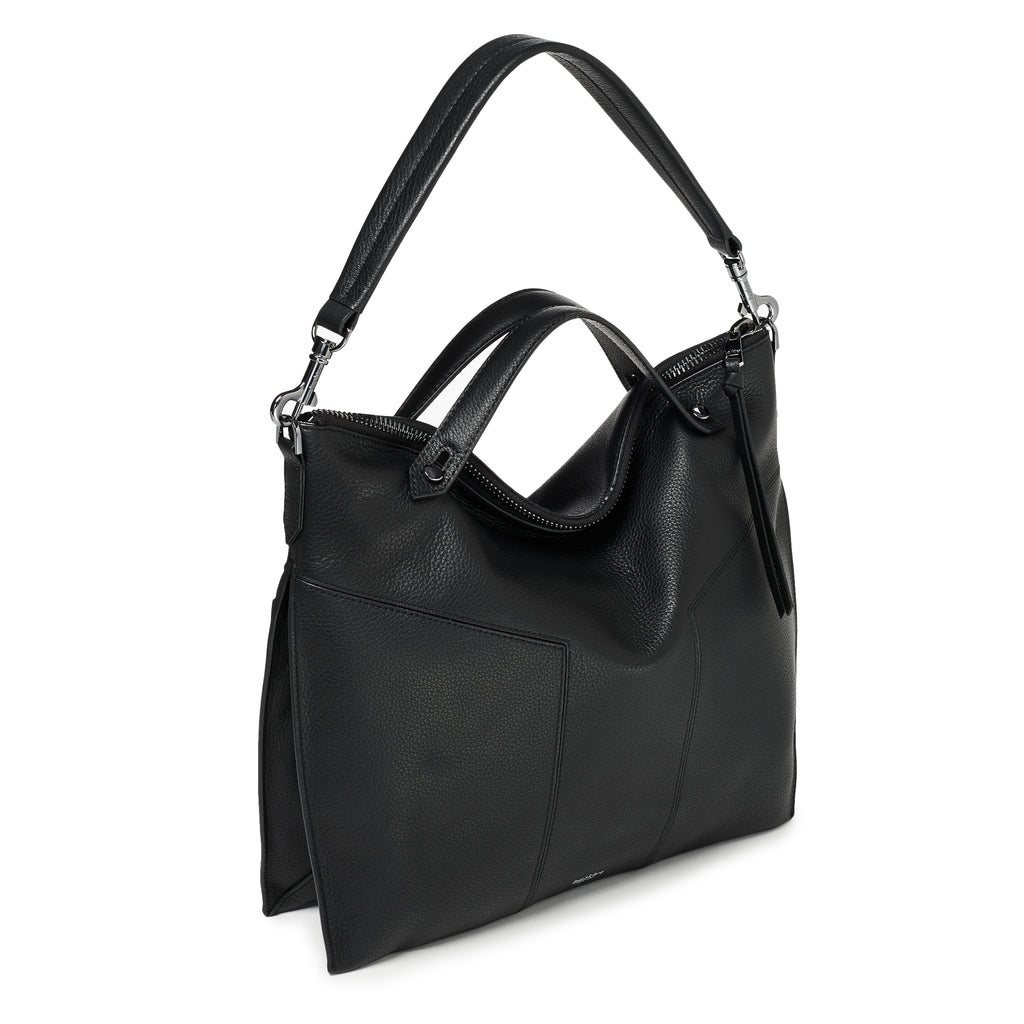 trigger convertible hobo black back strap