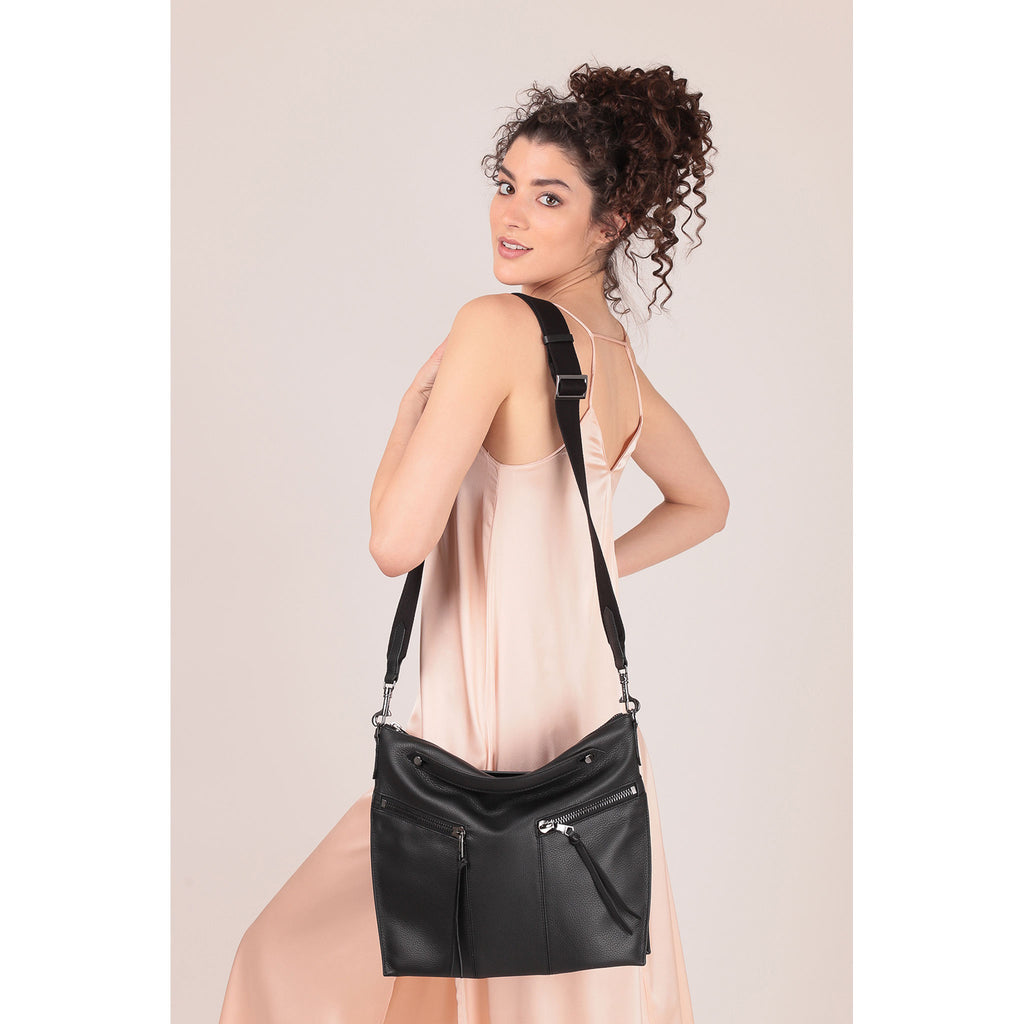 trigger convertible hobo black on figure crossbody