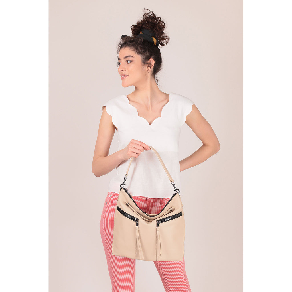 trigger convertible hobo fawn on figure shoulder