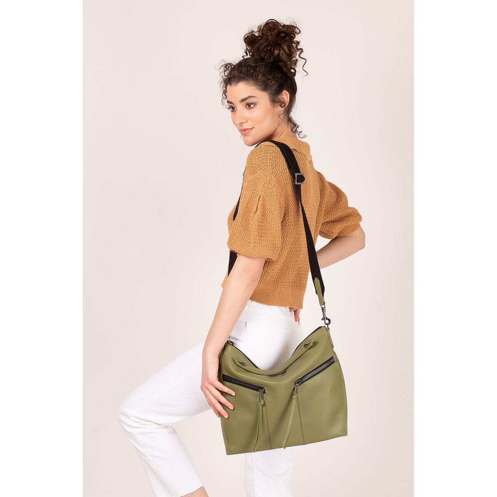 trigger convertible hobo moss on figure crossbody