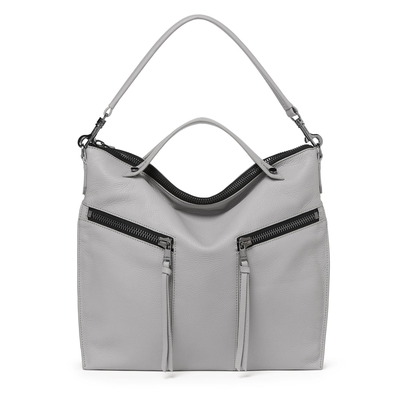 trigger convertible hobo silver grey front