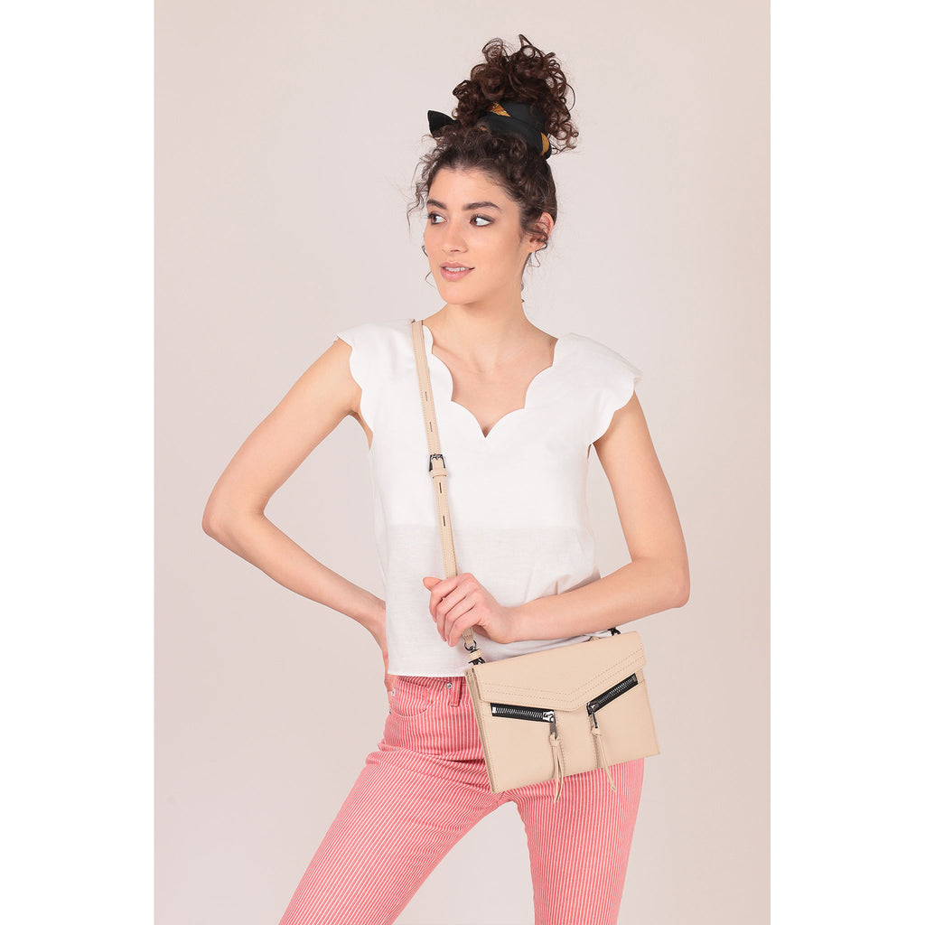 trigger crossbody fawn on figure crossbody