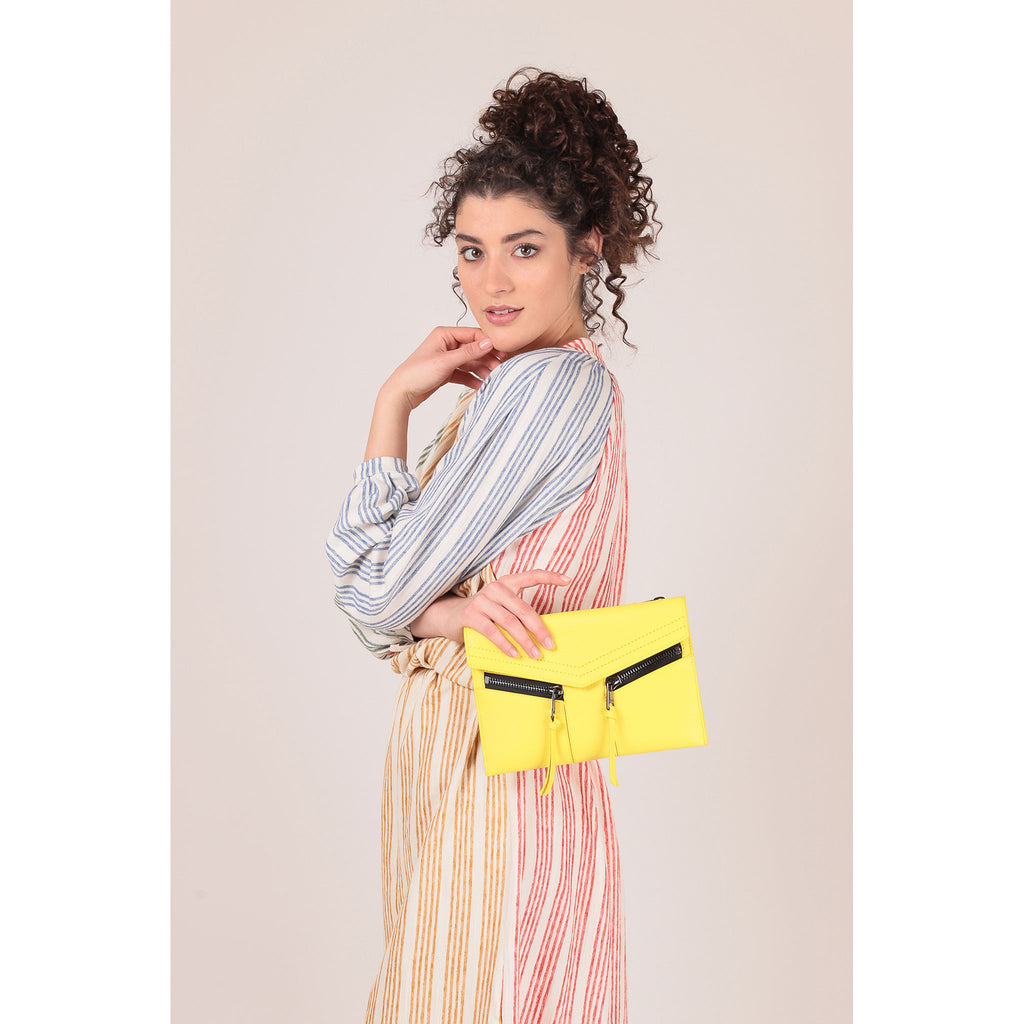 trigger crossbody sunburst on figure clutch
