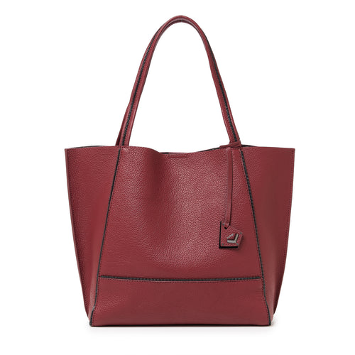 botkier soho zipper detail tote in cordovan red