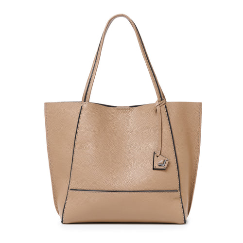 botkier soho zipper detail tote in hazelnut brown