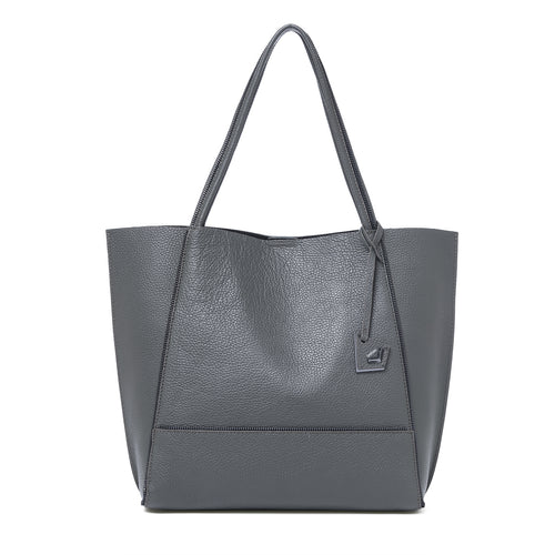 botkier soho zipper detail tote in smoke grey