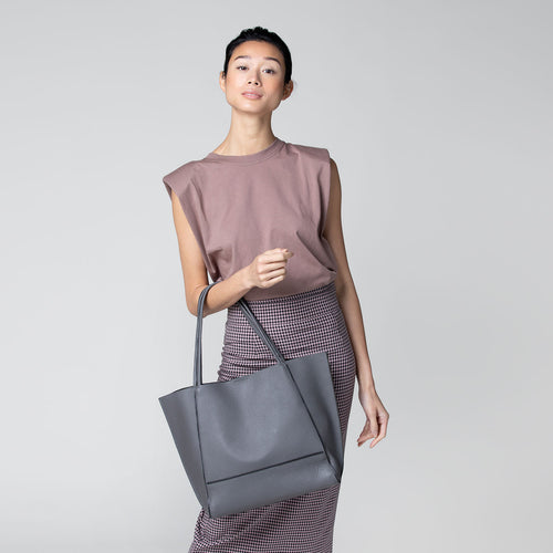 botkier soho zipper detail tote in smoke grey Alternate View