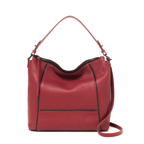 botkier soho zipper detail hobo in cordovan red