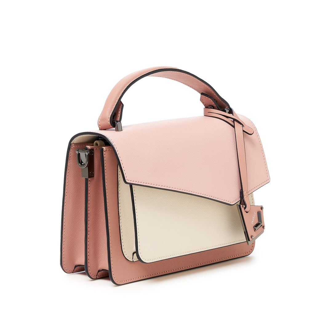 botkier cobble hill crossbody misty rose combo front angle