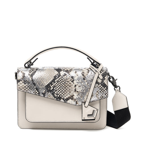 botkier cobble hill crossbody metallic snake front