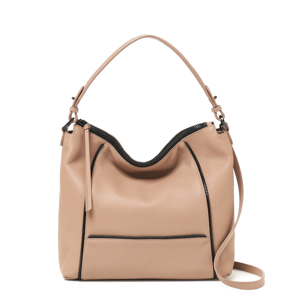 botkier soho zipper detail hobo in latte brown