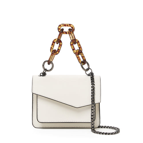 botkier cobble hill mini chain crossbody marshmallow front