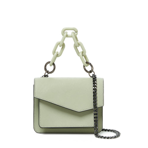 botkier cobble hill mini chain crossbody oregano front