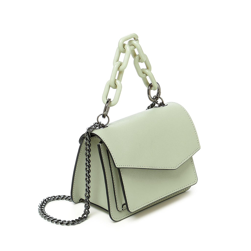botkier cobble hill mini chain crossbody oregano front angle