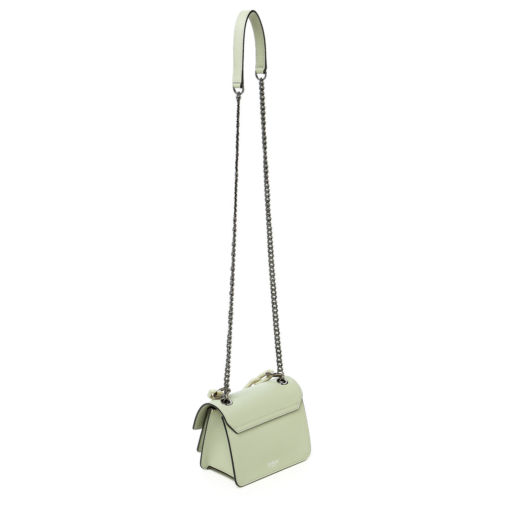 botkier cobble hill mini chain crossbody oregano strap up
